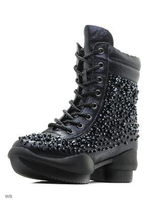 Ботинки EGGA. Цвет: голубой