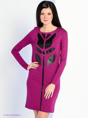 Платье Personage. Цвет: сиреневый, черный