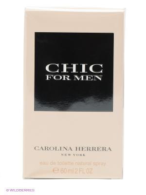 Carolina Herrera Chic Men М Товар Туалетная вода 60 мл. Цвет: светло-бежевый, черный