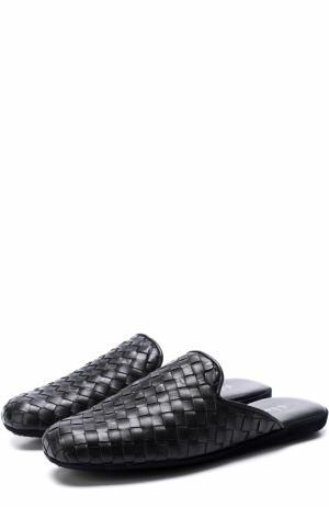 Домашние кожаные туфли Homers At Home. Цвет: темно-синий