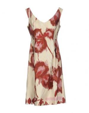 Платье до колена 6267. Цвет: красно-коричневый