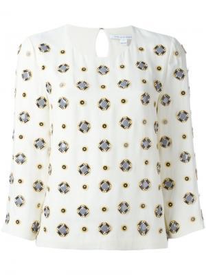 Блузка с рукавами три четверти Diane Von Furstenberg. Цвет: телесный