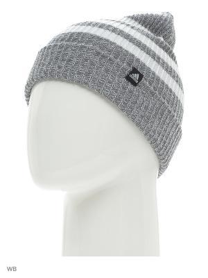 Шапка 3S WOOLIE Adidas. Цвет: серый