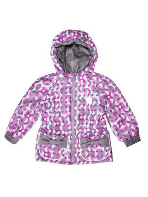 Куртка КОТМАРКОТ. Цвет: белый, серебристый, малиновый, розовый