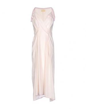 Платье длиной 3/4 CARLO CONTRADA. Цвет: светло-розовый
