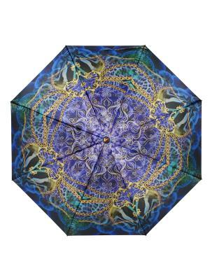 Зонт Boho-Chic DAIS. Цвет: синий, золотистый