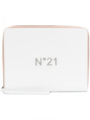 Logo plaque iPad case Nº21. Цвет: белый