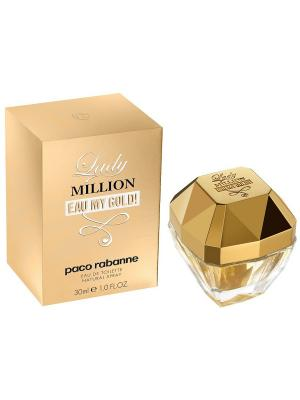 Million 1 Eau My Gold lady edt 30ml PACO RABANNE. Цвет: золотистый
