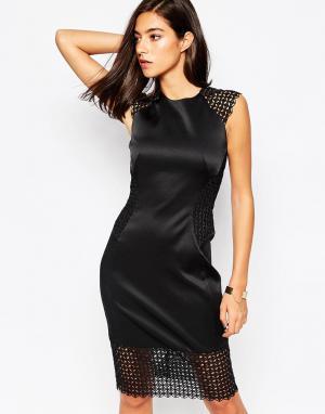Little Black Dress Платье с кружевными вставками Rachel. Цвет: черный
