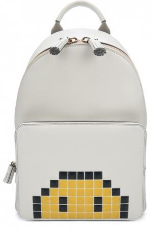 Рюкзак Pixel Smiley Mini Anya Hindmarch. Цвет: белый