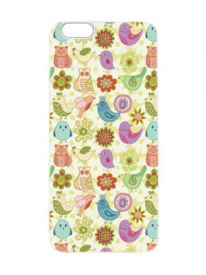 Чехол для iPhone 6 Птичий принт-2 Chocopony. Цвет: кремовый, темно-бежевый, бледно-розовый