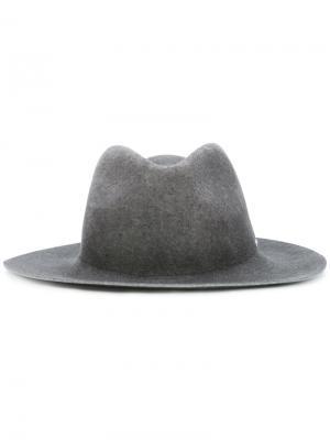 Классическая шляпа Diesel. Цвет: серый