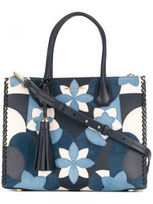 Большая сумка Mercer Michael Kors. Цвет: синий