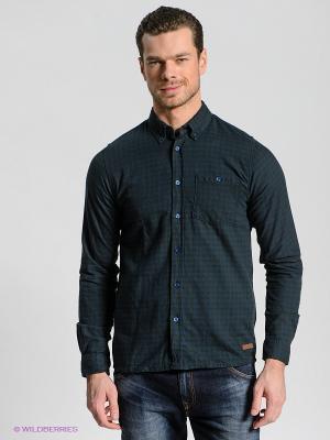 Рубашка OUTFITTERS NATION. Цвет: темно-зеленый, синий