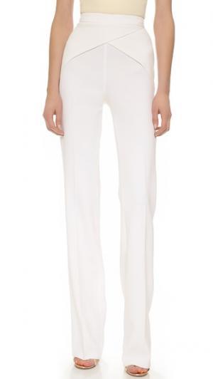 Приталенные брюки Cady Mugler. Цвет: оттенок белого