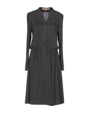 Платье до колена BONSUI. Цвет: серый