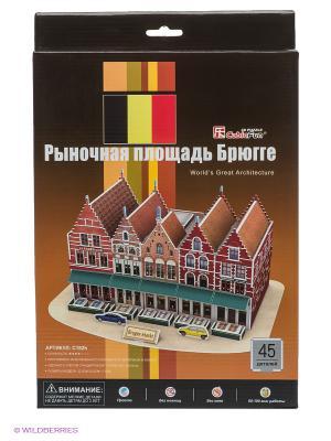 Пазл Рыночная площадь Брюгге CubicFun. Цвет: коричневый