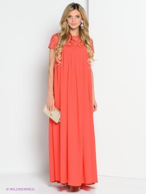 Платье ZAYKINS. Цвет: коралловый