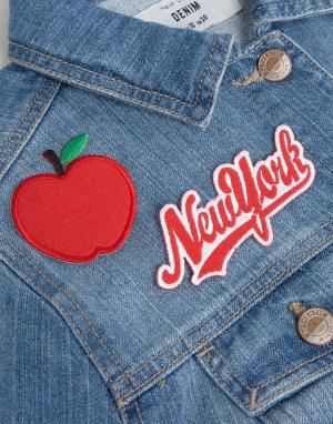 Orelia Нашивка с вышивкой New York. Цвет: мульти