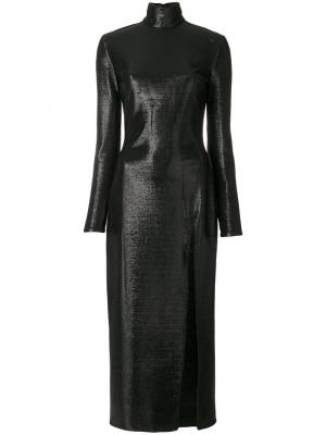 Midi slit dress Maria Lucia Hohan. Цвет: чёрный