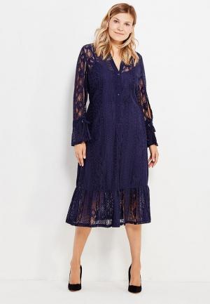 Платье LOST INK PLUS. Цвет: синий