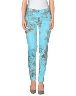 Повседневные брюки ANOTHER LABEL. Цвет: лазурный