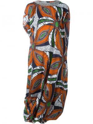 Платье с принтом Junya Watanabe Comme Des Garçons. Цвет: многоцветный