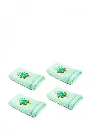 Комплект полотенец 4 шт. La Pastel. Цвет: мятный
