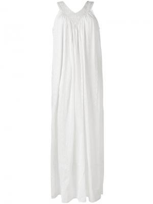 Длинное платье Dolores Mes Demoiselles. Цвет: белый
