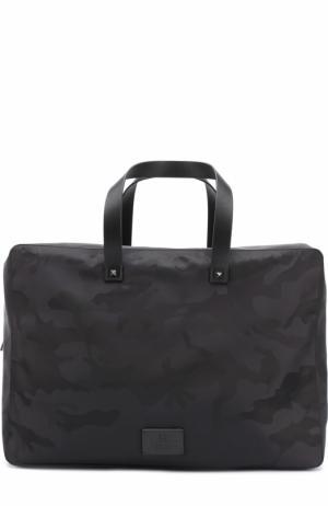 Дорожная сумка с принтом Valentino. Цвет: черный