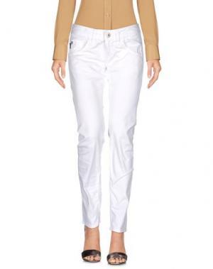 Повседневные брюки RA-RE. Цвет: белый