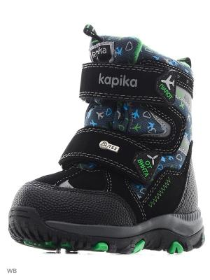 Ботинки Kapika. Цвет: черный, зеленый, синий
