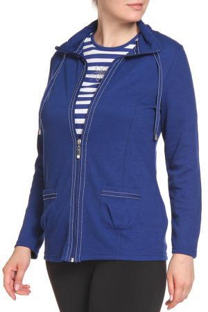 Комплект: кардиган, блуза HELENA VERA. Цвет: темно-синий