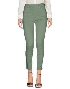 Повседневные брюки NOLITA. Цвет: светло-зеленый