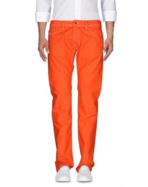 Джинсовые брюки DIESEL. Цвет: оранжевый