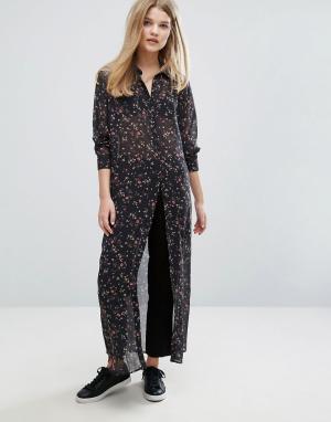 Gestuz Stacie Chiffon Shirt in Floral Print. Цвет: мульти