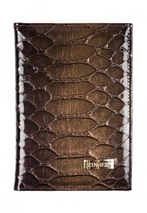 Обложка для документов Zinger. Цвет: коричневый