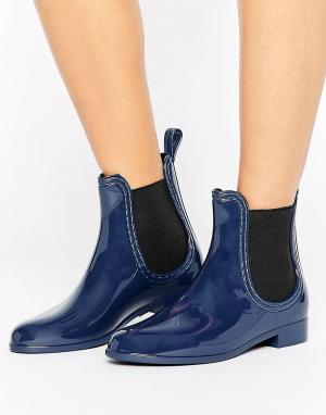 Juju Резиновые сапоги Chelsea. Цвет: темно-синий