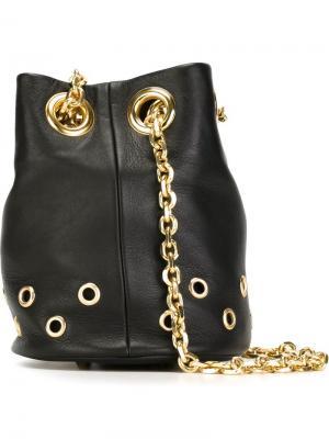 Eyelet detail bucket shoulder bag Delphine Delafon. Цвет: чёрный