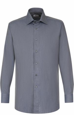 Сорочка из смеси хлопка и кашемира с воротником button down Brioni RCL8/0602I