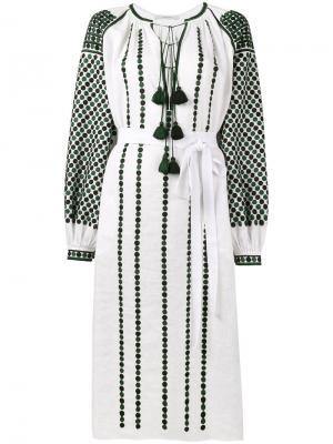 Платье-туника с вышивкой Dotted Vita Kin. Цвет: белый