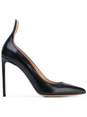 Классические туфли-лодочки Francesco Russo. Цвет: чёрный