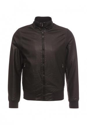 Куртка кожаная J. Hart & Bros. Цвет: коричневый