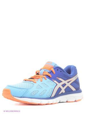 Кроссовки GEL-ZARACA 3 ASICS. Цвет: голубой, оранжевый, синий