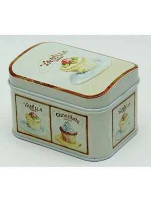 Коробка для безделушек и мелочей Ванильный капкейк Magic Home. Цвет: белый
