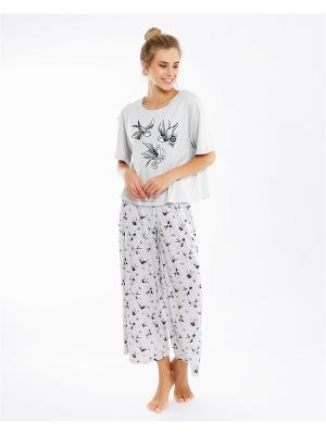 Комплект одежды: футболка; брюки Mark Formelle. Цвет: серый, светло-серый