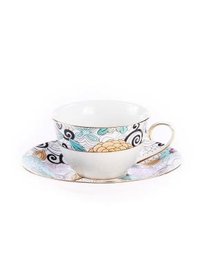 Набор чайный 12 предметов 220 мл. PATRICIA. Цвет: бирюзовый
