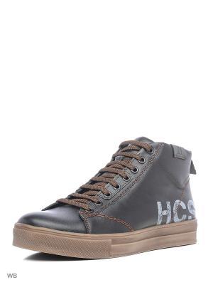Кеды HCS. Цвет: коричневый