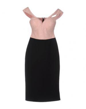 Платье до колена RARE LONDON. Цвет: розовый