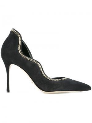 Туфли с заостренным носком Sergio Rossi. Цвет: серый